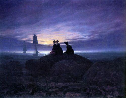 Caspar David Friedrich Moonrise over the sea 1822