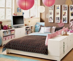 Pbteen bedroom.,this is cute for a teenager