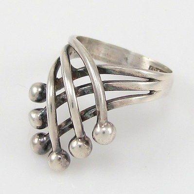 """nice Erik Granit, vintage modernist sterling silver """"Crown"""" ring, 1970's. #Finl..."""