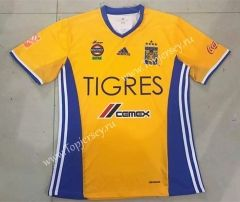 2017-18  Tigres UANL Home Yellow Thailand Soccer Jersey