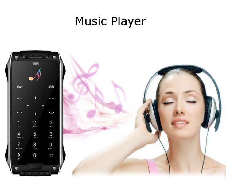 Anica X8S 1.63 Inch Ultra-thin Dual SIM Bluetooth MP3 780mAh Remote Control Mini Card Phone