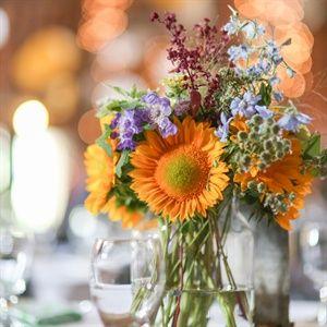 sunflowers wedding centerpieces