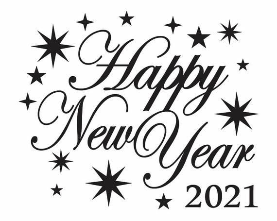 Happy New Year 2021 Design Clipart Happy New Year 2021 Svg Etsy New Year Clipart Clip Art Happy New Year Images