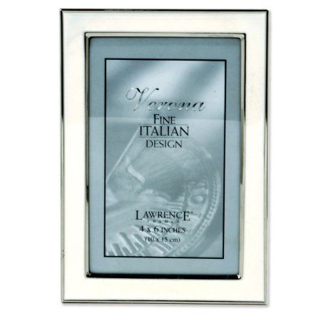 Silver Plated 4x6 Metal With White Enamel Picture Frame Metal Picture Frames Picture Frames Frame