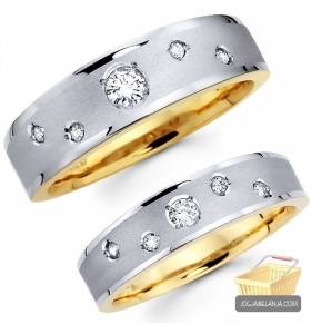 Cincin Kawin Lucy Perak 925 Lapis Emas