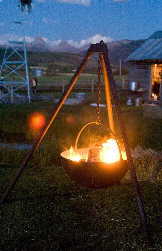 Cowboy Cauldron Fire Pits. Cast iron. Please get in my backyard.