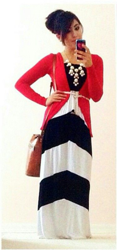Modest outfit with a bubble necklace!