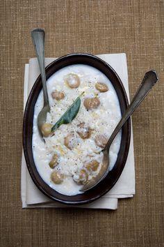 Minestra di riso castagne e latte