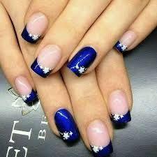 Uñas De Acrilico Decoradas azul