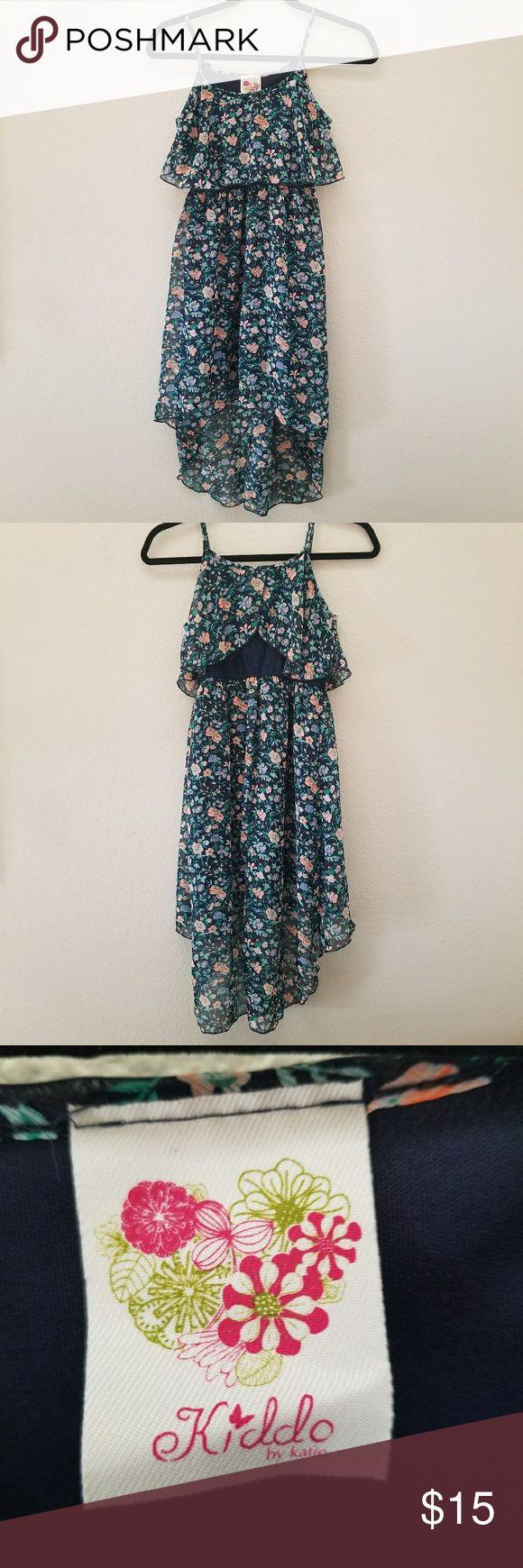 Girls High Low Dress Floral Print Dress Flowy High Low Hem 🛒BUNDLE & SAVE🛒 Kiddo by Katie Dresses Casual