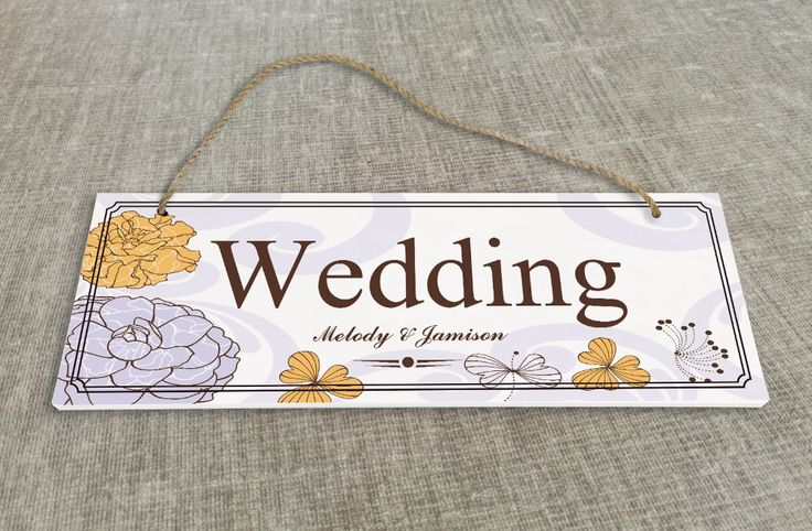 Персонализированные Открытый Свадьбы и Церемонии Украшения Указатели свадьба вывеска SB014H купить на AliExpress