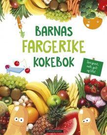 Barnas fargerike kokebok (Innbundet)