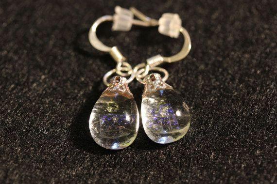 Transparent Fused Glass  Earrings drop earrings by CzinamonArt, €12.00