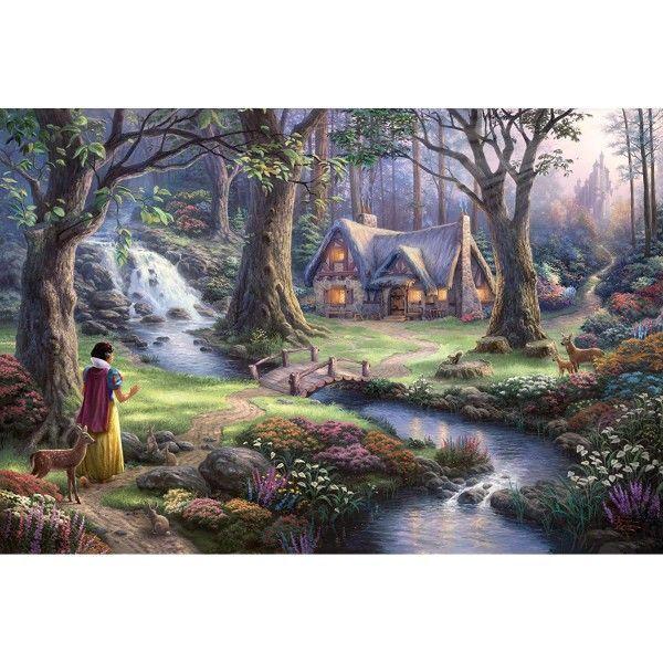 Puzzle 1000 Pieces Blanche Neige Disney En 2020 Avec Images Peintures De Disney Blanche Neige Thomas Kinkade Disney