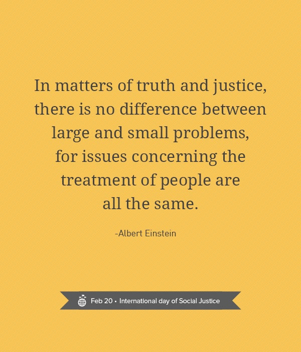 When it comes to truth and justice, there are no big problems and small problems. All issues should be dealt with.