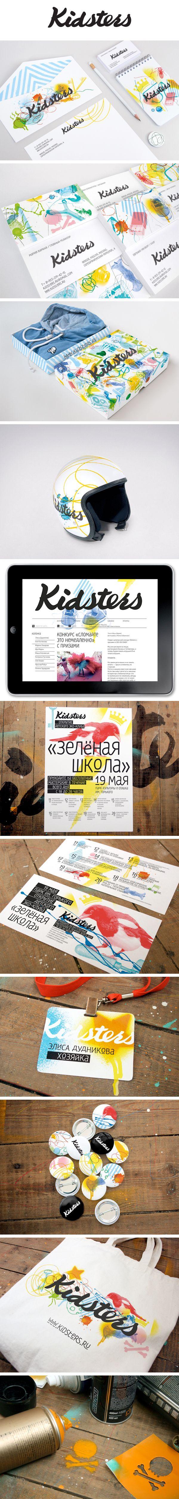 Kidsters, Identity © Иван Бурмистров #design #corporate #identity #branding #visual