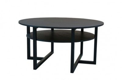 Brutus sofabord black round table shelf swedish design englesson www.helsetmobler.no
