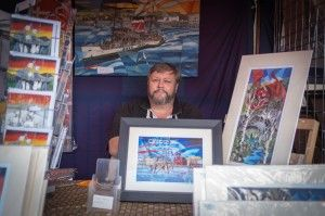 """""""To a budding artist I would tell them to get your work out to where the people are. Don't worry too much about getting your pieces in galleries. Get them up in cafes, restaurants and take part in street markets like this. I've sold a shedload of paintings this weekend."""" #cardiff #wales#painter #artist #galleries #painting"""
