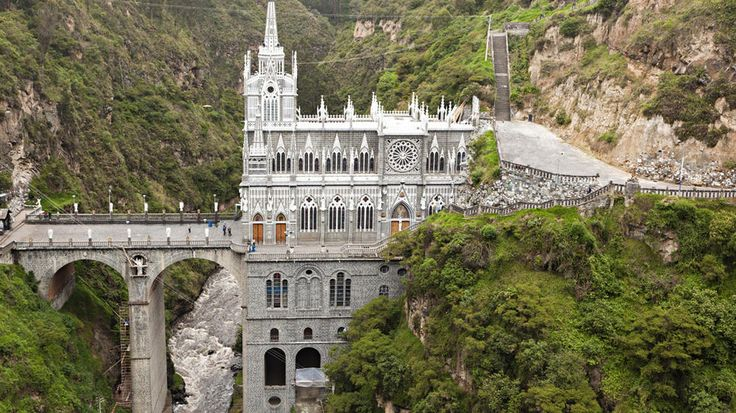 Las Lajas Sanctuary, Nariño, Colombia, via @Travel Channel: Sanctuary Narino, Sanctuary Columbia, Narino Columbia, Slabs, Places I D, Localculture Colombia, Colombia Narino