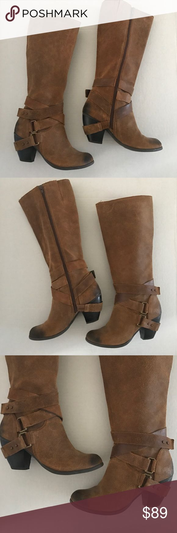 Fergie 'Legend' distressed, suede tall boots These Fergie boots are amazing and go with everything! Wear with denim or dress it up with a dress and a cardigan. These boots were only worn twice and are in excellent condition! Fergie Shoes Heeled Boots