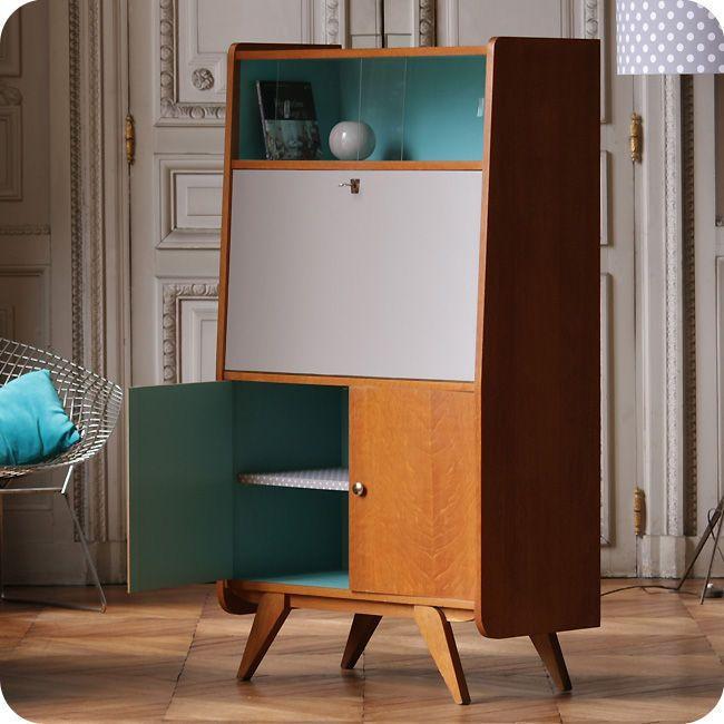 Meubles vintage > Rangements > Secrétaire années 50 : Fabuleuse Factory