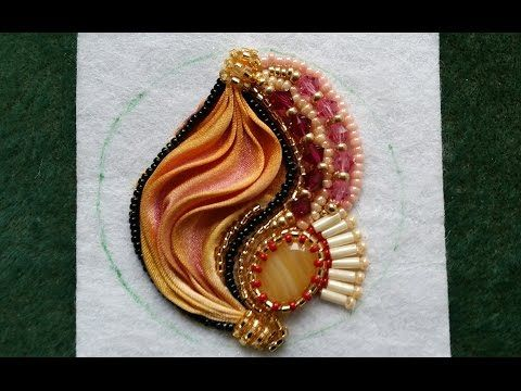 Beading4perfectionists: Shibori silk embroidery earrings part 2 : Stitched - https://www.youtube.com/watch?v=MzqXYoqI_kU