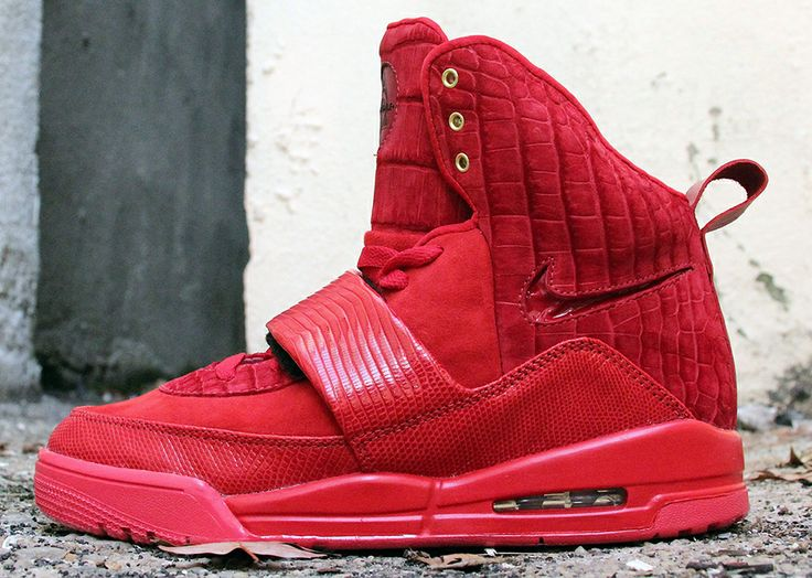 """Red Croc & Lizard"" Nike Air Yeezy 1 Custom by JBF"
