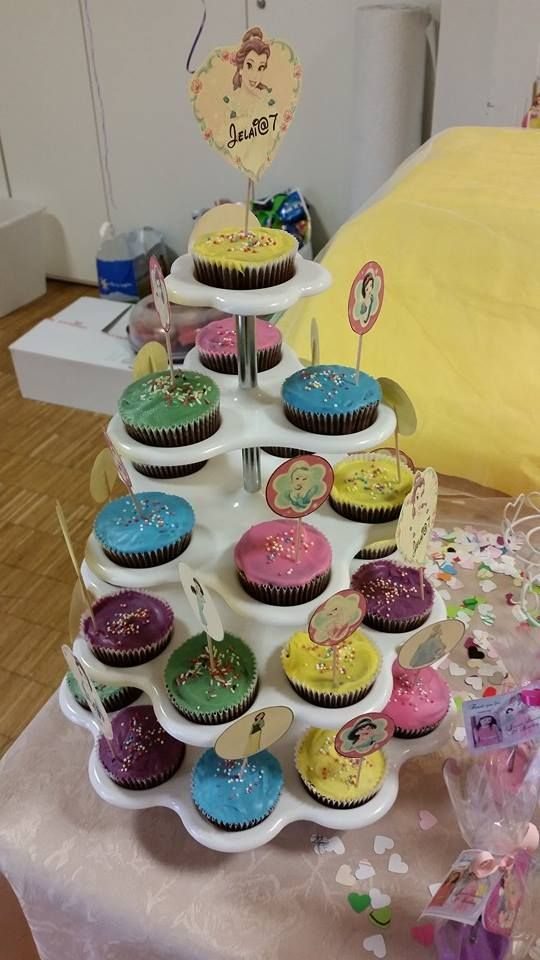 Chocolate cupcakes with candy melts frosting. Made DIYs toppers also.