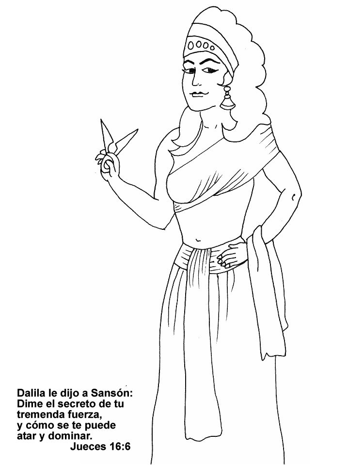 17 best images about samson sunday school on pinterest for Samson and delilah coloring pages