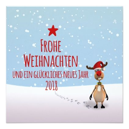 Lustiges Rentier 2018 - Einladung Weihnachtsfeier Card - invitations personalize custom special event invitation idea style party card cards