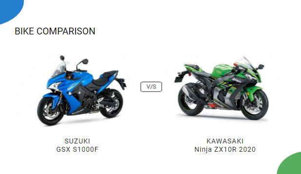 Compare Suzuki Gsx S1000f Vs Kawasaki Ninja Zx10r 2020 Vs Price