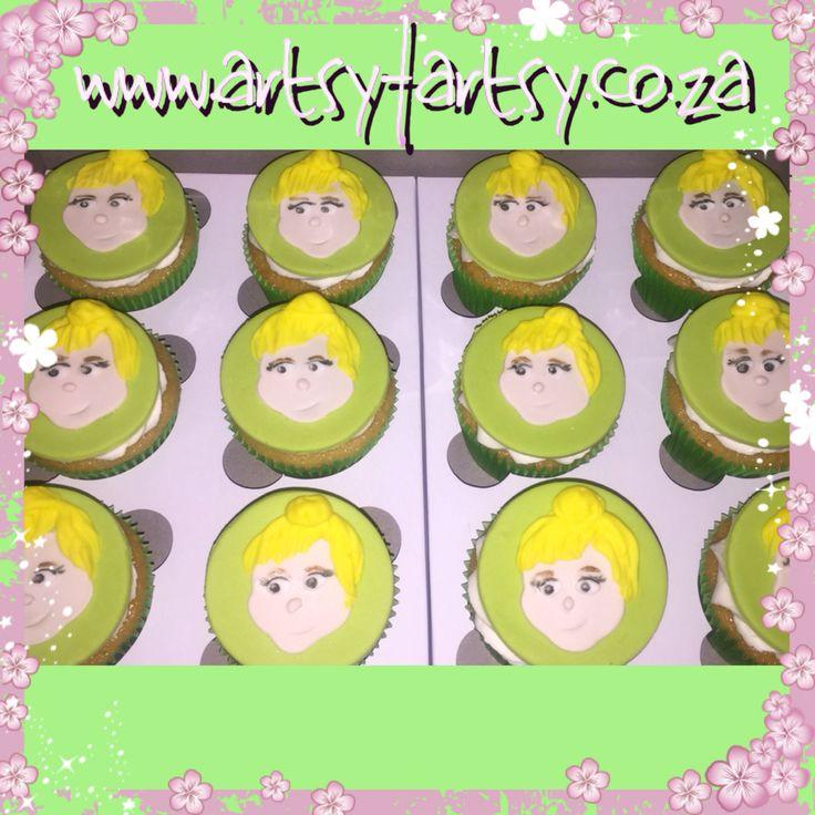 Tinker Bell Cupcakes #tinkerbellcupcakes