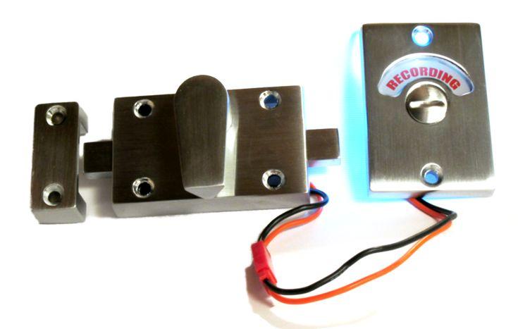 Bright 3 Volt L E D Illuminates Recording When Locked Indicates Rehearsal When Unlocked 3 Volt Battery Door Locks Recording Studio Inventions