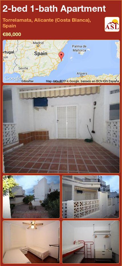 2-bed 1-bath Apartment in Torrelamata, Alicante (Costa Blanca), Spain ►€86,000 #PropertyForSaleInSpain