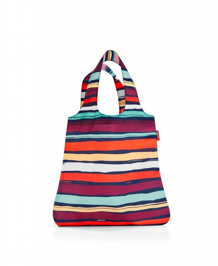 Reisenthel - mini maxi shopper artist stripes - Mebracelet #mebracelet #minimaxishopper #shoppingbags #boodschappentas #strepen