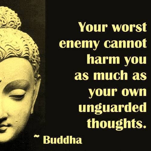 Sometimes we are our own worst enemies; our own thoughts betray a sense of low self-worth