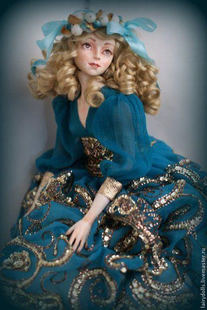Коллекционные куклы ручной работы. Ярмарка Мастеров - ручная работа Балеринка Бирюза - Кукла подружка из сказки. Handmade.