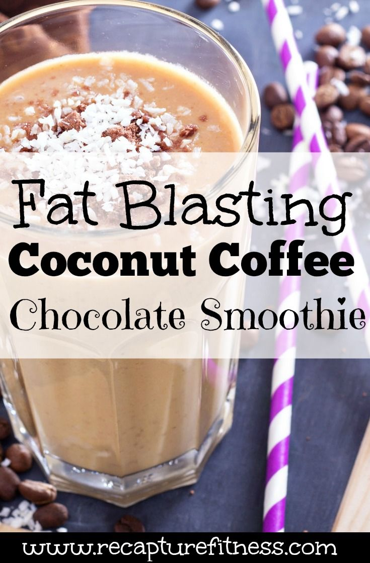 I LOVE coconut, chocolate and coffee anything! So in a fat burning smoothie that fills me up and tastes good?! YES PLEASE!