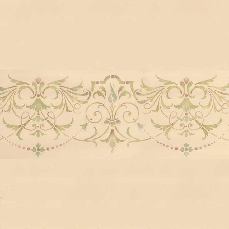 Ceiling Stencils | Hampton Frieze Ceiling Stencil | Royal Design Studio 34 x 9 $31