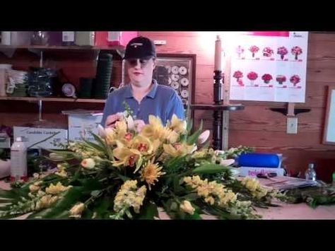 How To Do A Funeral Flower Arrangement - YouTube