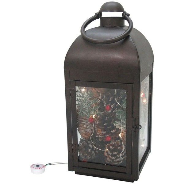 St. Nicholas Square® Light-Up Lantern Table Decor ($30) ❤ liked on Polyvore featuring home, home decor, multicolor, battery operated lanterns, pine cone home decor, colorful lanterns, colorful home decor and battery powered lanterns