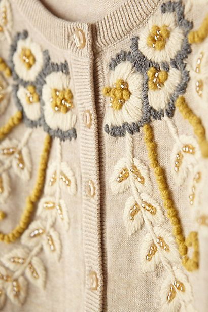 Fanned Vines Cardigan // In neutral, granny-chic.