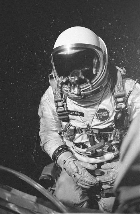 Something about the sight of astronauts that gives me hope.