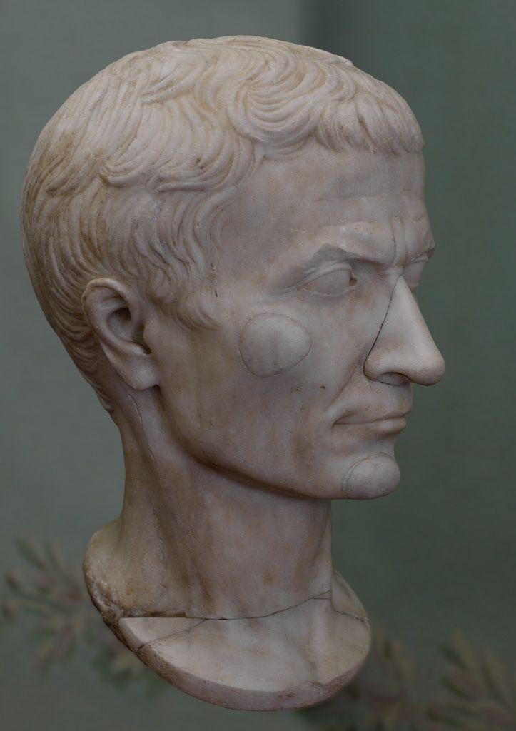 Ancient Rome Julius Caesar Dictatorship | Julius Caesar. Marble. 30-20 B.C.E. Inv. No. 20. Pisa, Museo dell ...
