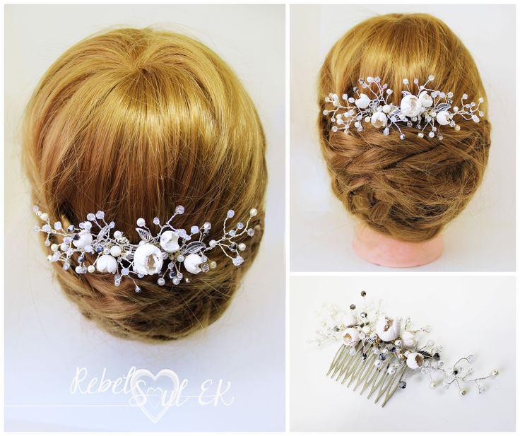 Hair accessory for bride wedding jewelry by RebelSoulEK https://www.facebook.com/RebelsoulEk/
