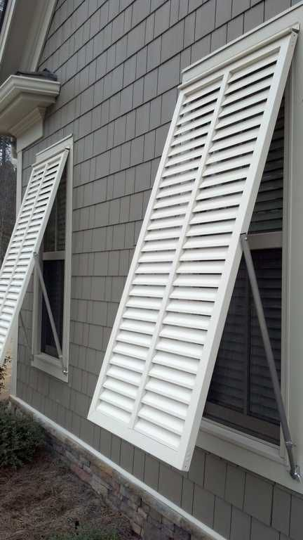 Aluminum Bahama Shutters By The Louver Shop Private Client Ideas Mid Century Meets