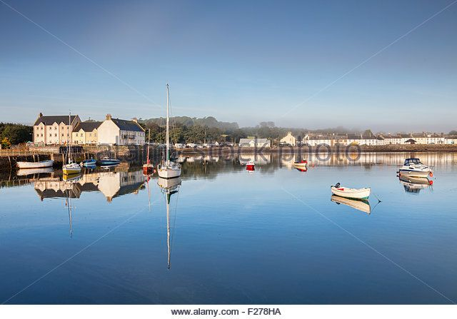 The Scottish harbourside village of Garlieston, Dumfries and Galloway, Scotland - Stock Image