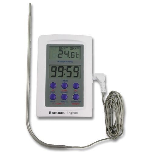 Digital Oven/Meat Thermometer With 235mm Probe With Timer