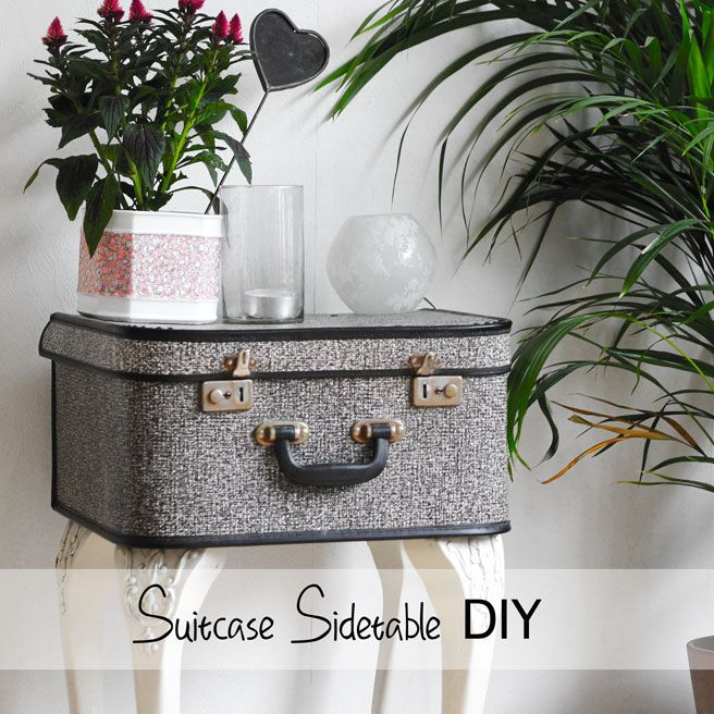DIY: suitcase side table