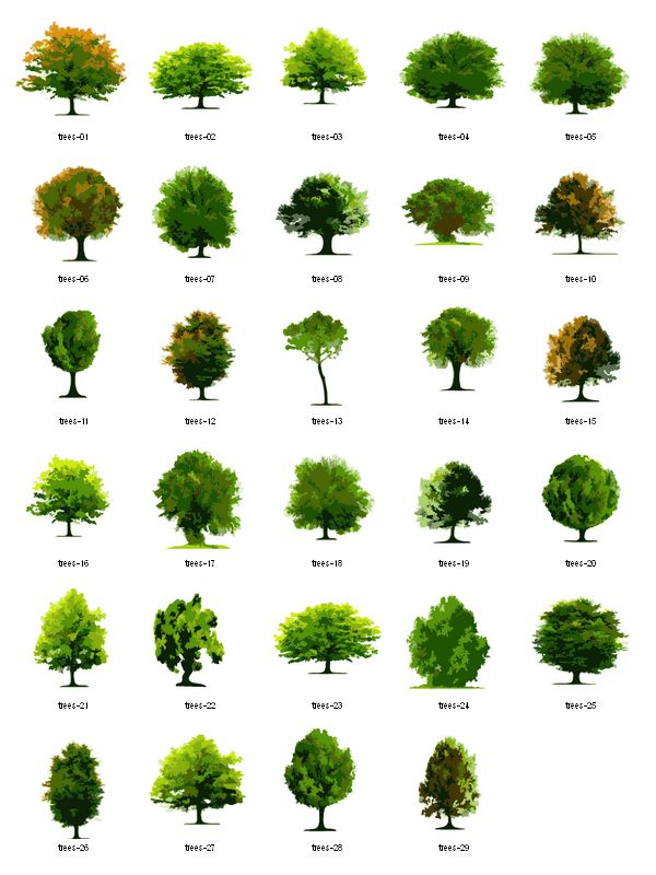 Landscape Trees Vector : Trees free vector clipart landscape architecture